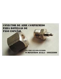 Conector para botellas paso español