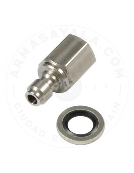 Male connector for Foster + Bonded Seal washer