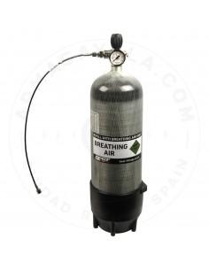 Botella Aire Comp. 9 litros/300 bar-Carbono - 100% EQUIPADA