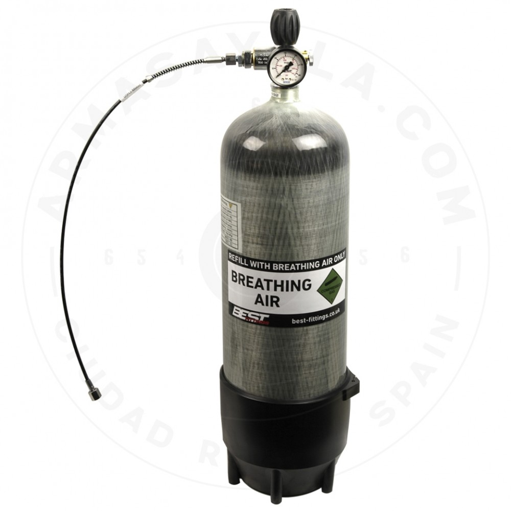 Air Bottle Carbon 9 liters - FULL EQUIPED