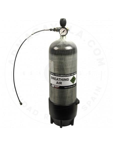 Bouteille de Carbone 300 bars - 9 litres - COMPLETE EQUIPMENT