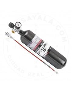BOTELLA Aire Comp. 3 Litros/300 Bar/CARBONO - 100% EQUIPADA
