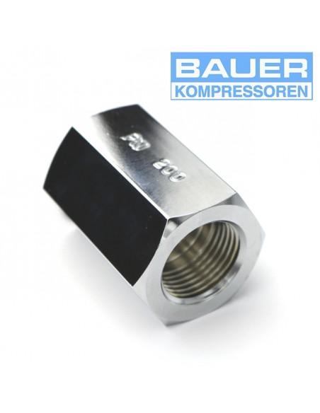 "Conector Bauer 5/8"" hembra - 5/8"" hembra"