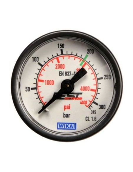 Pressure gauge for compressed air bottle